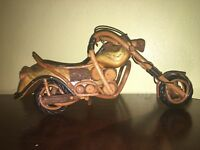 Vintage Wooden Harley Davidson Motorcycle Hand Crafted! Very nice!
