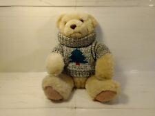 "Hallmark Cards 10"" Stuffed Plush Bear With Christmas Tree Sweater hd884"