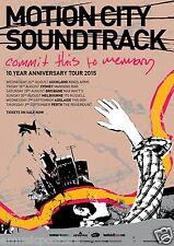 "MOTION CITY SOUNDTRACK ""10 YEAR ANNIVERSARY TOUR 2015"" AUSTRALIAN CONCERT POSTER"