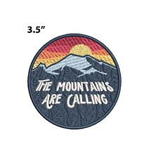 New ListingThe Mountains Are Calling Embroidered Patch Iron-on / Sew-on Nature Applique