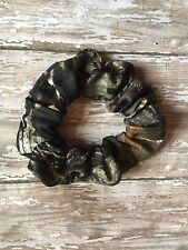 Stretchy Camo Realtree Fabric Hair Scrunchie Ponytail Holder Tie Elastic