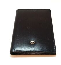 Authentic MONTBLANC Hamburg Black Leather Card Holder Wallet
