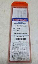 NEW WESTWARD Tungsten Electrode, Thrtd, 3/32x7 In., PK10, 49H754