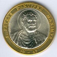 Vatikan seltene Bi-Meatll Medaille mit Motiv: Petrus, mit Album, UNC.-