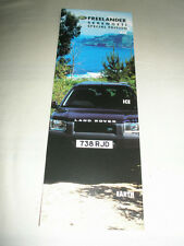 Land Rover Freelander Serengeti brochure 2000