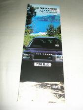Land Rover Freelander Serengeti brochure 2000