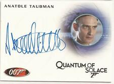 Rittenhouse Archives 007 James Bond Mission Logs Anatole Taubman autograph A148
