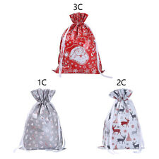 New ListingLarge Bag Christmas Drawstring Gift Party Candy Bags Cookie Wrapping Pouch Us