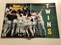 1991 Sports Illustrated MINNESOTA Twins WORLD Series WORLD CHAMPIONS NewsStand