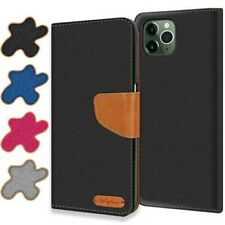 Case IPHONE 11 Pro Max Cover Wallet Flip Case Protective Cover Fabric Cover