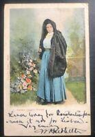 1907 Valletta Malta Picture Postcard Cover To American Embassy Lisbon Portugal