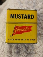 VINTAGE FRENCH'S MUSTARD * Yellow Spice Tin * 1 1/4 oz. * Great Condition!