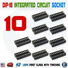 10Pcs 18-Pin DIL DIP Socket PCB Mount connecteur RN
