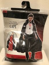 Full Length Collared Cape, Unisex Vampire Halloween Costume, One Size Fits Most