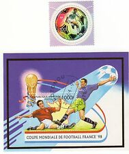 FRANCE 98 FOOTBALL STAMP MINIATURE SHEET & STAMP,  MINT,  France 98