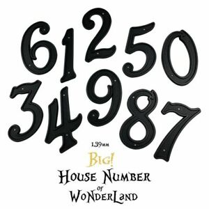 Outdoor House Numbers Door Number ABS Plastic Black Address Numbers 139mm Height