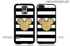 Disney Gold Mickey Head Apple iPhone and Samsung Galaxy Phone Case Cover