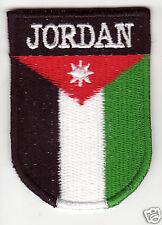 JORDAN Flag  Country Patch Shield Style Denmark