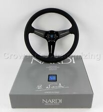 Nardi Steering Wheel Deep Dish Corn Racing 350mm Black Perf Leather Classic Horn