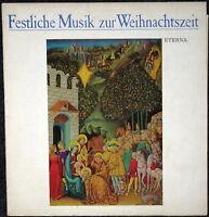 Festliche Musik zur Weihnachtszeit - LP Schallplatte - Sammlerstück selten rar