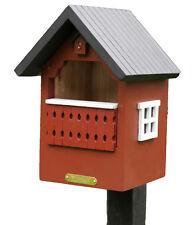 Nido con balcone per uccelli (Nesting Box) rossa