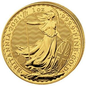 Großbritannien - 100 Pfund 2021 - Britannia - Anlagemünze - 1 Oz Gold ST