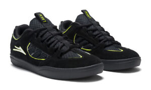 Lakai Skateboard Shoes Carroll Black/Neon Green