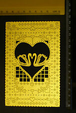 Brass * Stencil * Emboss *  Heart * Swan * Embroider * Pierce * Art No:11602/30