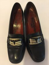 Vintage 1960's YSL Yves Saint Laurent Black Leather Pumps Size 5 B