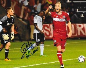 Michael de Leeuw signed Chicago Fire MLS Soccer 8x10 photo autographed 4