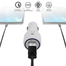Qualcomm Certified QC3.0 Quick Charge With Dual USB Port Fast Car Charger LC