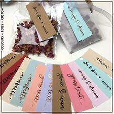 Personalised Mini tags / labels colour / foil wedding  | Baby shower | Christmas