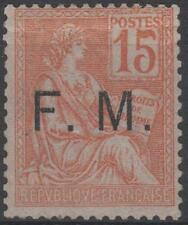 "FRANCE TIMBRE FRANCHISE MILITAIRE N° 1 "" MOUCHON 15c ORANGE "" NEUF xx TTB J682"