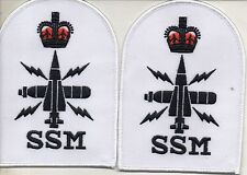 2 X  MILITARY CLOTH BADGE SSM BRAND NEW MADE BY AN APPROVED MOD SUPPLIER