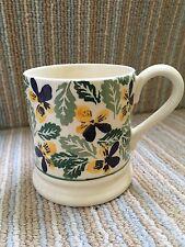 Emma Bridgewater Stunning Pansy Half Pint Mug Rare Old Sample Perfect