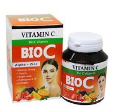 BIO C Vitamin Alpha Zinc White Skin Clear Bright Soft Smooth Wrink Anti oxidant