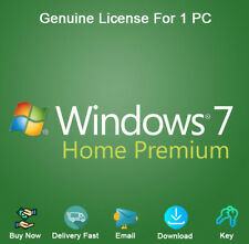 Windows 7 Home Premium 32/64bit Product Key with Download Activation