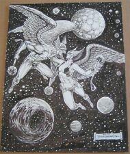 Hawkman & Hawkgirl Original Artwork DC Comics Artist Romeo Tanghal SIGNED SPLASH