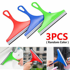 3Pack Glass Window Wiper Soap Cleaner Squeegee Shower Mirror Car Blade Brush