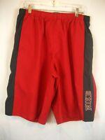 Mens NIKE Fly Athletic 3-Pocket Red/Black Poly Unlined Basketball Shorts sz XXLT