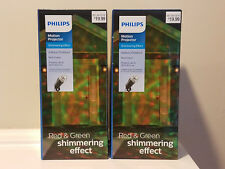 2 count Philips Red Green Shimmering Effect Motion Projectors Indoor/Outdoor NEW