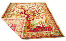 Indian Tree of Life Wall Hanging Double Tapestry Bedspread Blanket Bed Cover Art