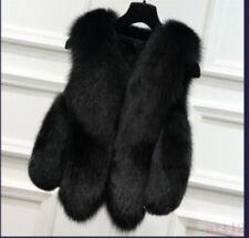 Fox Fur Vest New Hot Women Short Outwear Peacoat Casual Winter Warm Coat Jacket