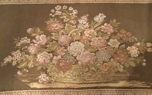 French Floral Tapestry Wall Hanging 148x62cm