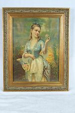 New frame and glass SPRING Chromolithograph 1880 H. Hallett & Co Portland, Maine
