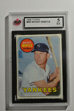 1969 Topps #500A Mickey Mantle UER/No Topps copy-/right on card back