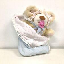 "Furskins Bear Baby Girl Plush Toy 15"" Xavier Roberts 'Baby Thistle Furskin'#413"