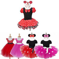 Kids Girls Baby Toddler Cartoon Fancy Outfit Party Costume Tutu Dress + Headband