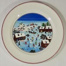 Villeroy & Boch Germany Naif Christmas Village Scene Dinner Plate Laplau New