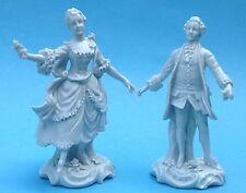 2x Rokoko Porzellanfigur Rosen-Kavalier+Dame Bock-Wallendorf Höchst Passau?~1900